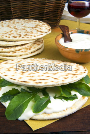piadina flat bread with rucola rocket