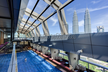 view from a rooftop pool and