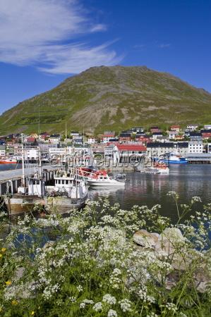 honningsvag port mageroya island finnmark region