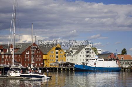 boats and warehouses on skansen docks