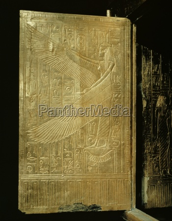 one of the double doors of