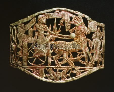 red gold openwork object from the