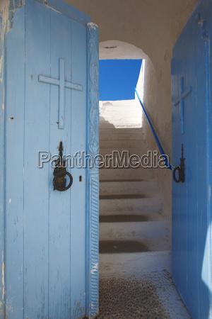 church entrance chania crete greek islands