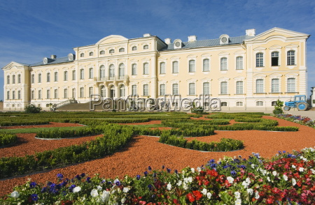 formal gardens and baroque style rundales