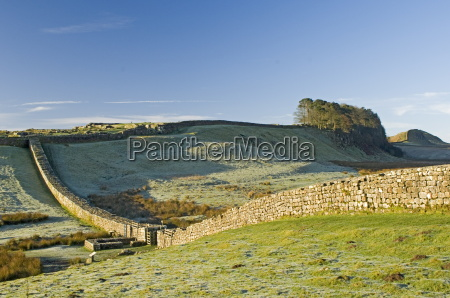 hadrians wall with civilian gate a