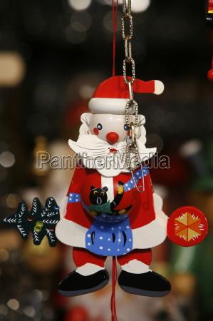 close up of santa claus decoration