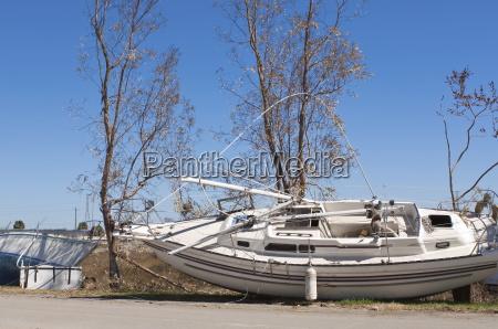 hurricane damage galveston texas united states