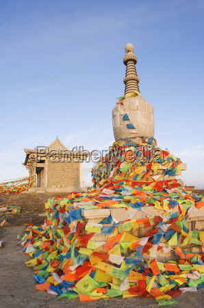 suise on a monastery stupa and