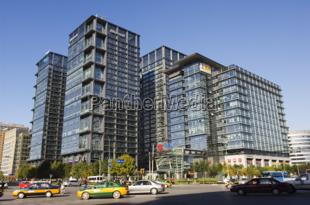 modern architecture and microsoft building at