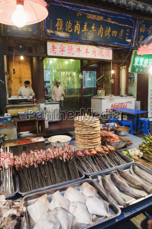barbeque food at a street market