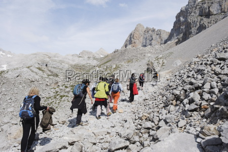 hikers in picos de europa national