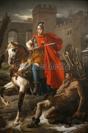 painting of st martin sharing his