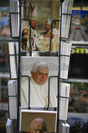 postcard of the pope vatican rome