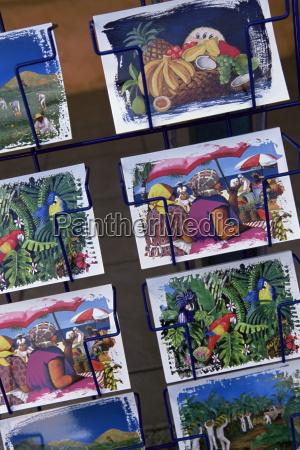 colourful postcards for sale martinique lesser