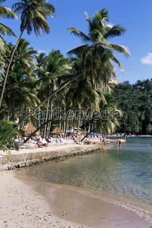 tropical beach marigot bay st lucia