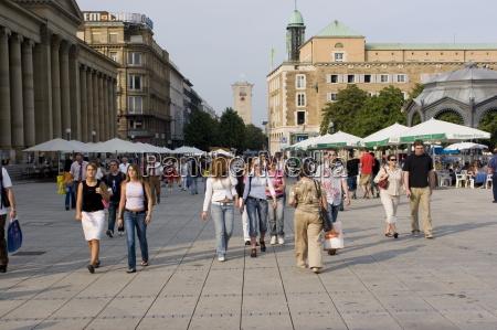 people walking on konigstrasse king street
