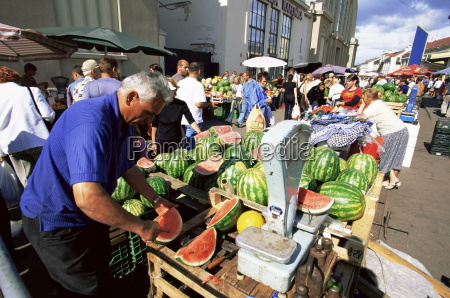 fruit and vegetable stalls at central
