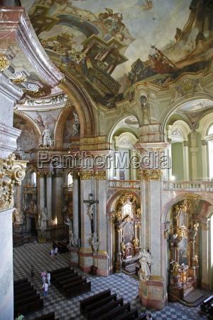the baroque interior of st nicholas