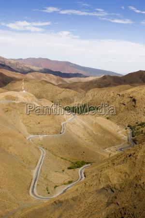 winding road to the tizi ntichka