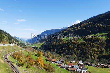 swiss railway autumn engadine graubunden switzerland