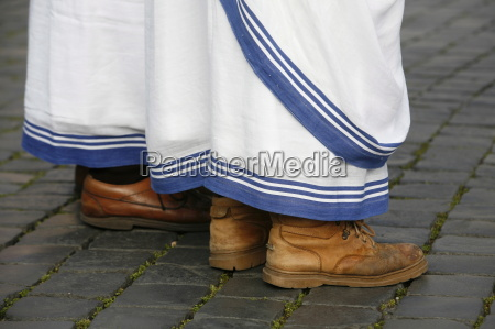 shoes of the missionaries of charity