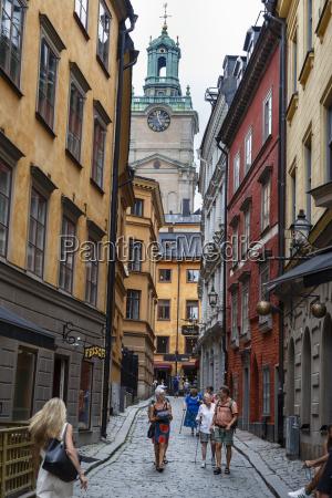 street scene in gamla stan stockholm