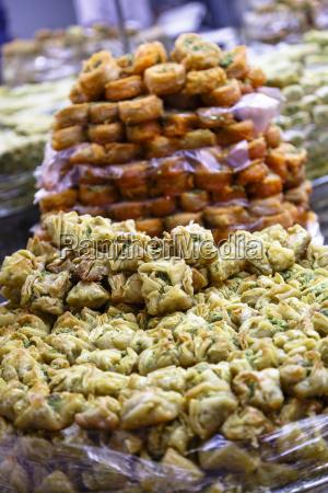 baklava an arab sweet pastry at