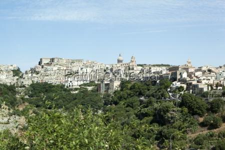 view of ragusa ibla sicily italy