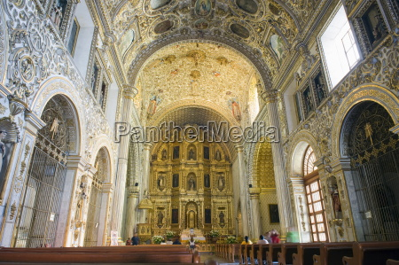 interior of santo domingo church oaxaca