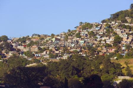 hillside suburbs of tegucigalpa honduras central