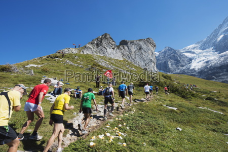 jungfrau marathon bernese oberland switzerland europe