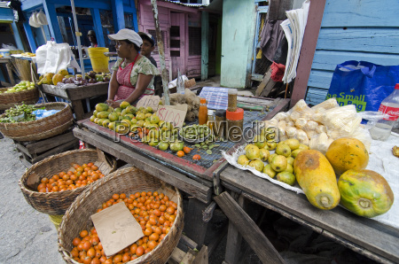fruit and vegetable stall in stabroek