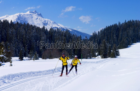 cross country skiing near klosters