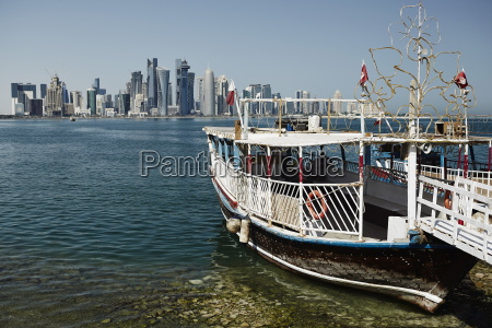 downtown doha with its impressive skyline