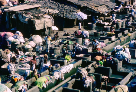 an open air laundry in bombay