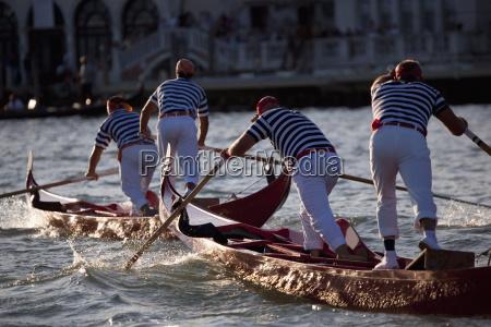 champions regatta on gondolini during the