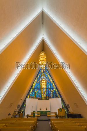 the arctic cathedral tromsdalen church tromsoysund