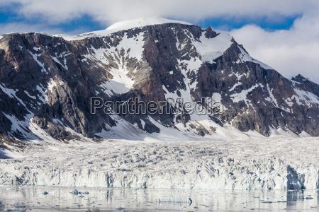 tidewater glacier hornsund spitsbergen svalbard archipelago