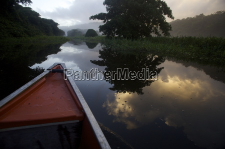 boating and observing fauna and flora