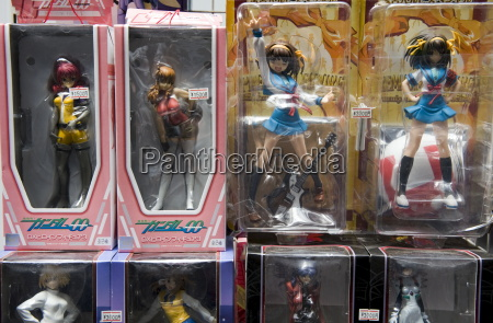 dolls of popular animated characters are