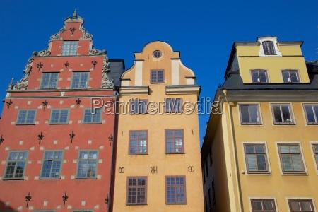 architecture stortorget square gamla stan stockholm