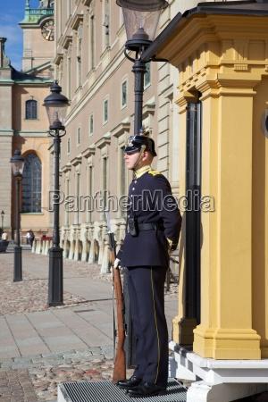 royal palace guard gamla stan stockholm