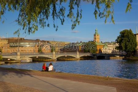 swedish parliament gamla stan stockholm sweden