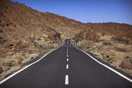 road in el teide national park