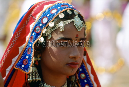 young pretty girl in national costume