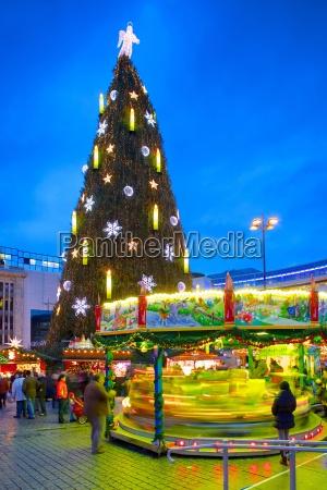 christmas market and the biggest christmas