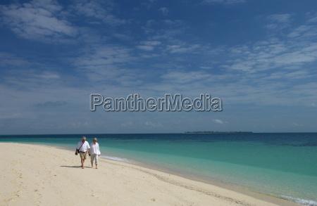 retired couple on holiday zanzibar