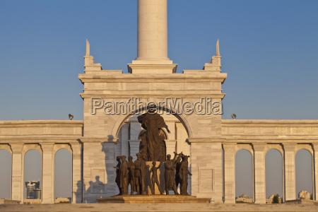 kazakyeli monument kazakh country astana kazakhstan