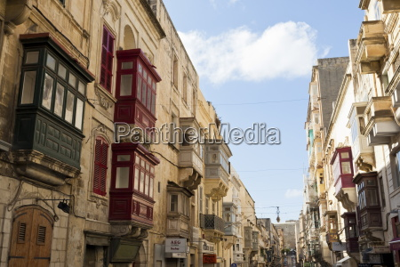 maltese balconies in the old town