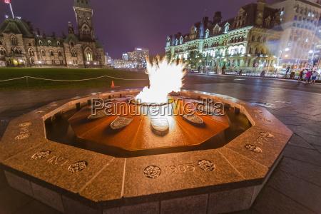 centennial flame commemorating canadas 100th anniversary